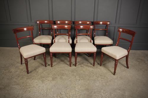 Set of 8 William IV Cuban Mahogany Dining Chairs (1 of 13)