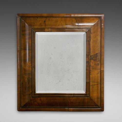 William & Mary Walnut Cushion Mirror (1 of 1)