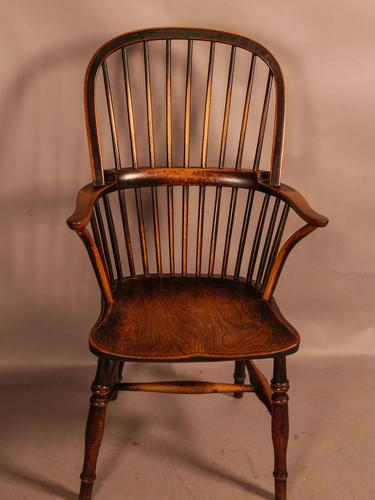 Thames Valley Yew Wood Windsor Chair (1 of 11)