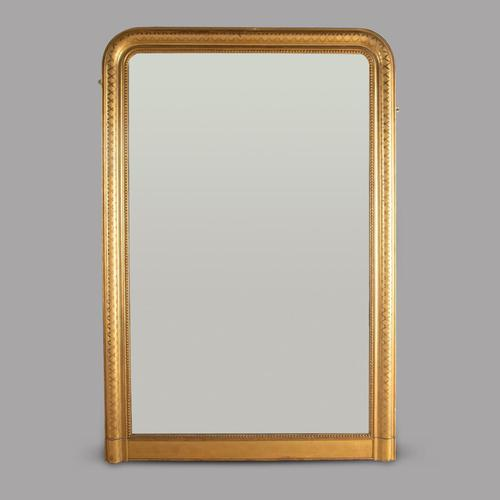 English 19th Century Gilt Framed Overmantle Mirror (1 of 3)