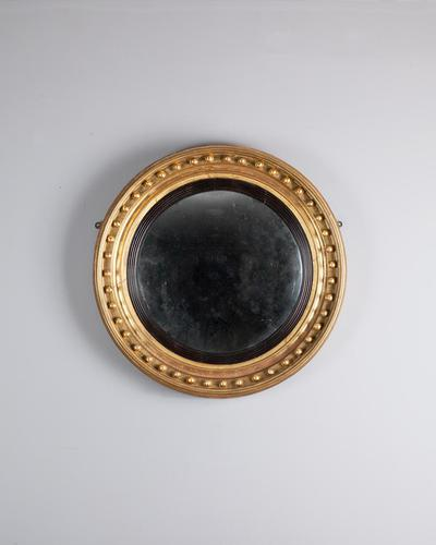 Regency Gilt Convex Mirror (1 of 4)