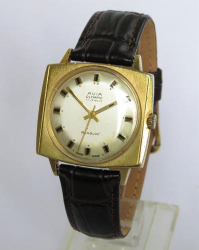 Gents 1960s Avia Olympic wrist watch (1 of 5)