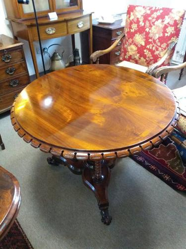 Victorian Rosewood Snap Top Table (1 of 9)