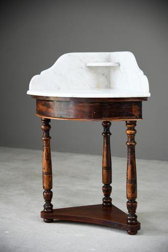 Antique Marble Corner Washstand (1 of 13)