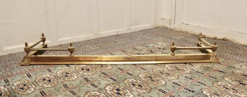 Victorian Barley Twist Brass Fender (1 of 5)