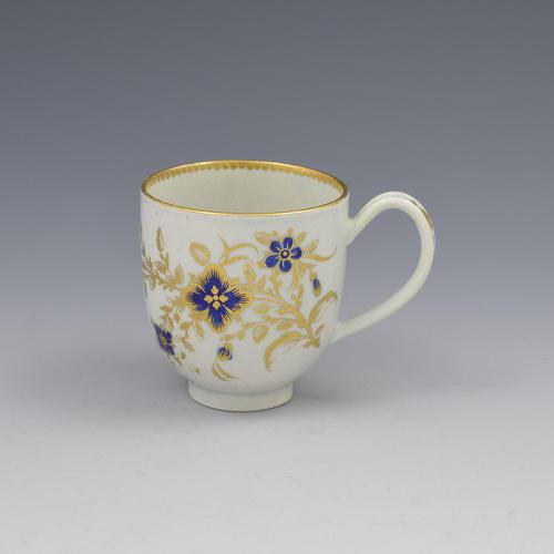 First Period Worcester Porcelain Coffee Cup c.1785 (1 of 6)