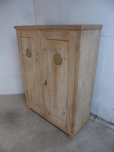 Victorian Antique Pine Vent Kitchen Food Storage Cupboard to wax / paint (1 of 9)