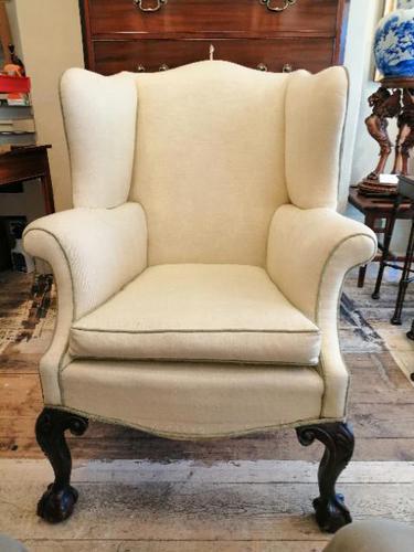 19th Century Winged Walnut Armchair (1 of 7)