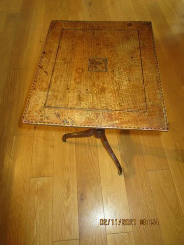 Regency Inlaid Oak Wine Table (1 of 5)