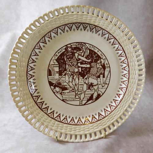"19th Century ""Macbeth"" Pierced Plate (1 of 5)"