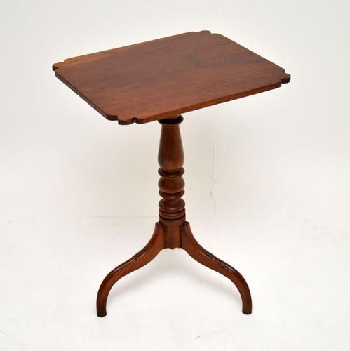 Antique Georgian III Mahogany Occasional Table (1 of 7)