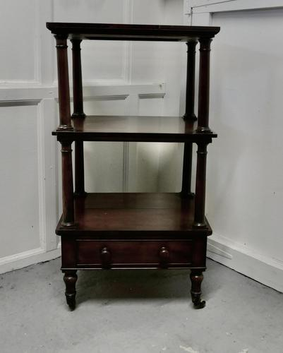 Three Tier Regency Rosewood Whatnot with Drawer (1 of 7)
