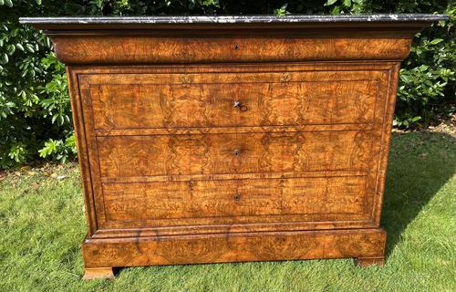 Louis Philippe Commode in Burr Walnut (1 of 7)