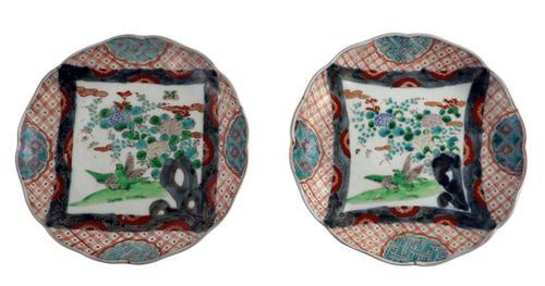 Pair of Scallop Edged Imari Plates (1 of 3)