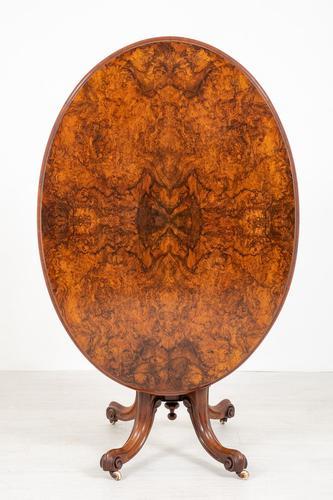 Pretty Victorian Burr Walnut Centre Table (1 of 9)