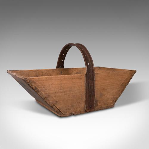 Antique Garden Trug, English, Pine, Horticulture Basket, Victorian c.1900 (1 of 12)