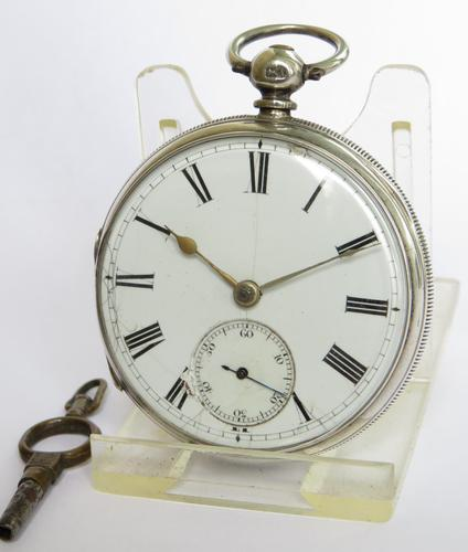 Antique Silver Fusee Pocket Watch, 1876 (1 of 6)