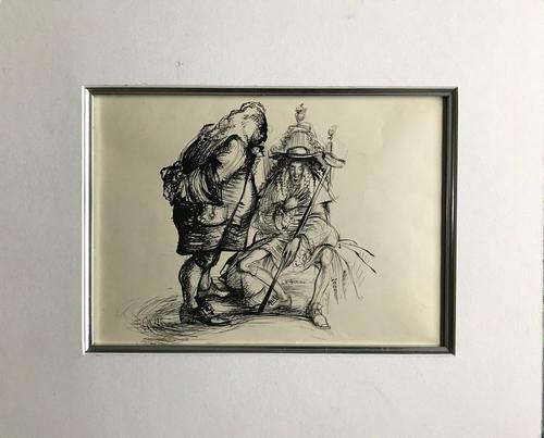 Original Pen and ink drawing by John Berry  c.1960 (1 of 2)
