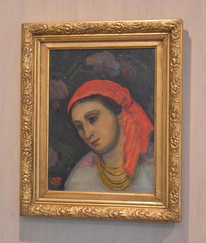 Oil Painting of a Lady with a Red Headscarf (1 of 8)