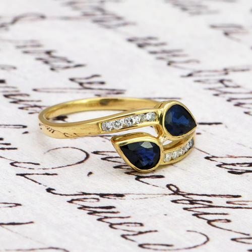 The Vintage Paired Snake Sapphire Ring (1 of 4)
