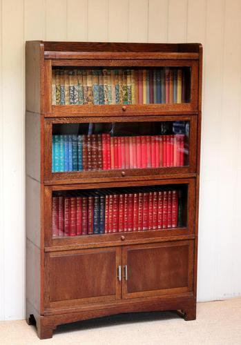 Oak Stacking Bookcase c 1920 (1 of 10)