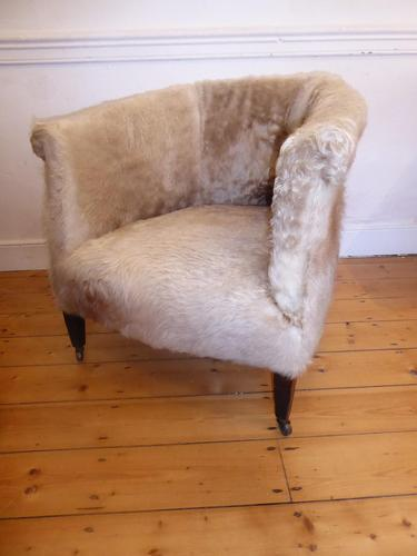 Hide Upholstered Tub Chair (1 of 6)
