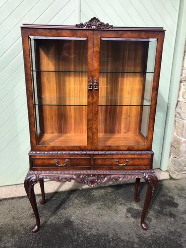 Antique Burr Walnut Display Cabinet (1 of 10)