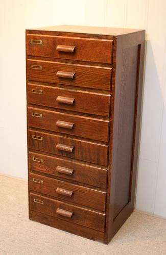 Oak Chest Of Filing Drawers (1 of 5)