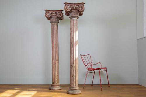 Pair of Tall Painted Victorian Columns Pillars (1 of 11)