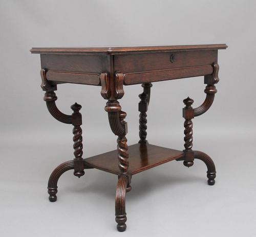 Early 20th Century Metamorphic Oak Desk (1 of 8)