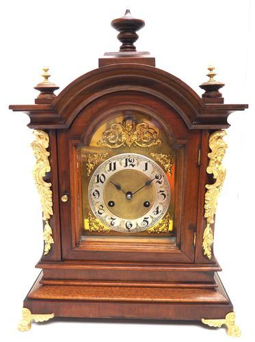 Fantastic Antique German HAC Bracket Clock – 8 Day Striking Mantel Clock c.1900 (1 of 12)