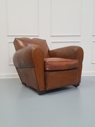 Moustache Back French Leather Club Chair (1 of 6)