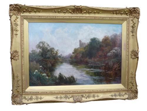 'Arundel, West Sussex' Oil Painting by John Horace Hooper (1 of 1)
