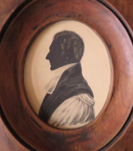 Late Georgian Clergyman Hand Painted Silhouette (1 of 4)