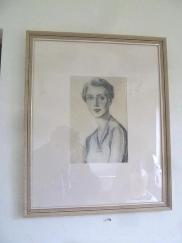 Olive Snell Mod Brit, Lithograph of Society Woman Portrait 1920's 3 of 4 Listed (1 of 3)