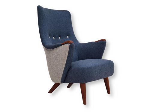 Danish Design 1960s, Restored Armchair, Nevotex Furniture Wool (1 of 14)