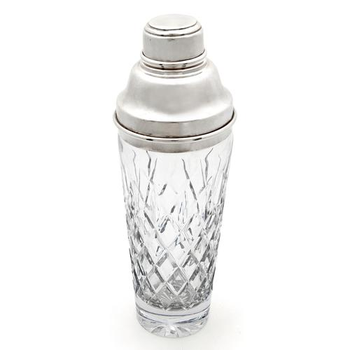 Oversized Vintage Cut Glass & Silver Plated Cocktail Shaker (1 of 2)
