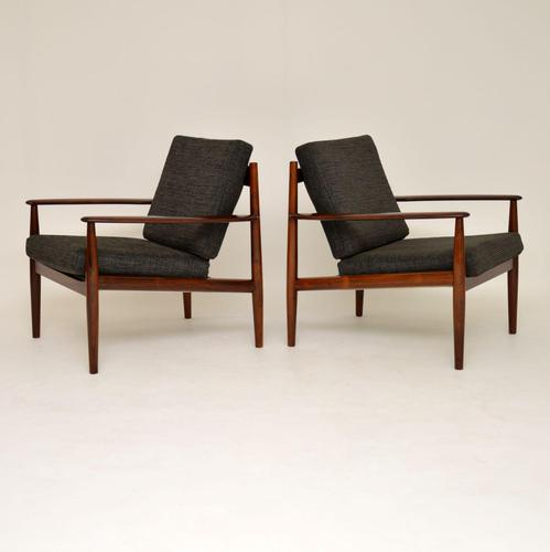 1960's Pair of Danish Rosewood Armchairs by Grete Jalk (1 of 12)