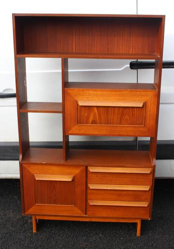 1960's Teak Room Divider with Shelves and Cupboard (1 of 4)