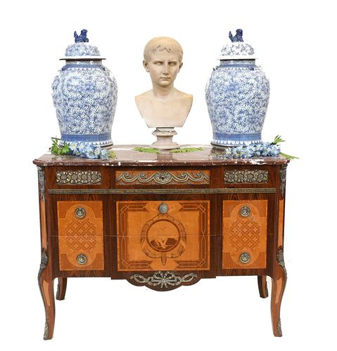 Neo Classical Swedish Commode Marquetry Chest of Drawers Scandanavian (1 of 16)