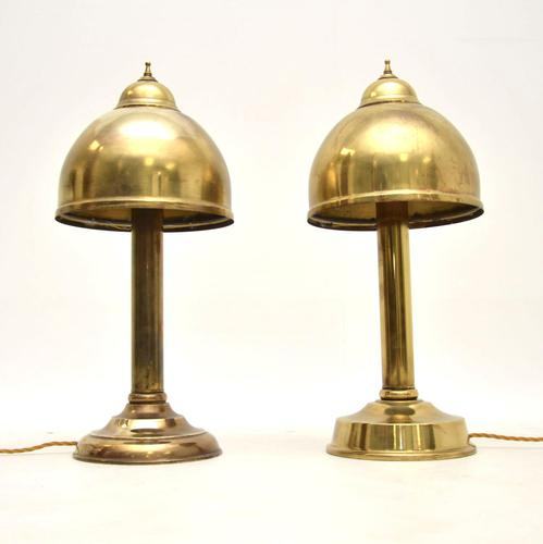 Pair of Vintage Brass Table  Lamps (1 of 7)
