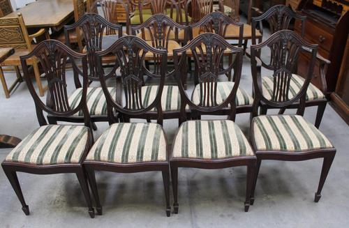 1960's Mahogany Set 8 Wheatcheaf Dining chairs with Pop out Seats (1 of 3)