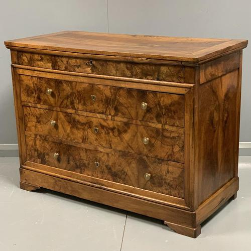 Early 19th Century Burr Elm Commode (1 of 7)