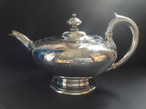 Superb Antique Victorian Silver Circular Teapot - 1846 (1 of 6)
