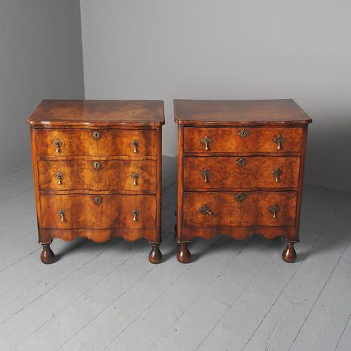 Antique Matched Pair of Walnut Chest of Drawers (1 of 20)