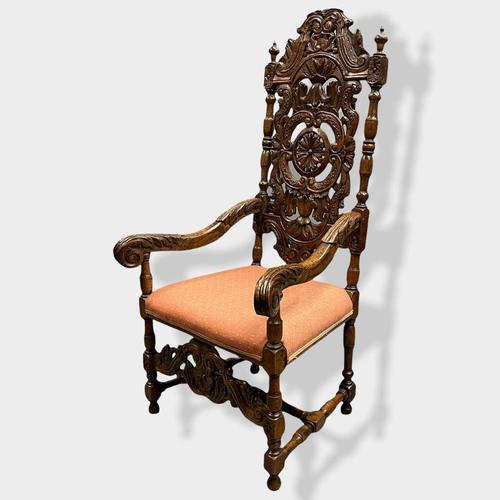 17th Century High Back Armchair (1 of 14)