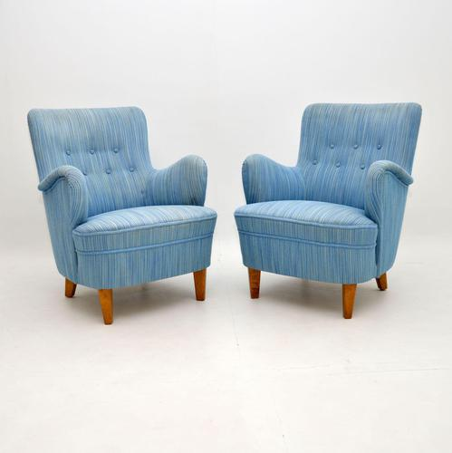 Pair of Swedish Vintage Armchairs by Carl Malmsten (1 of 6)