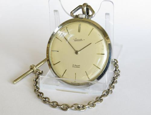 1960s Everite Pocket Watch with Chain (1 of 4)
