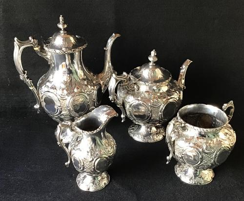 Outstanding Mid Victorian Silver Plated 4 Piece Tea Service (1 of 7)