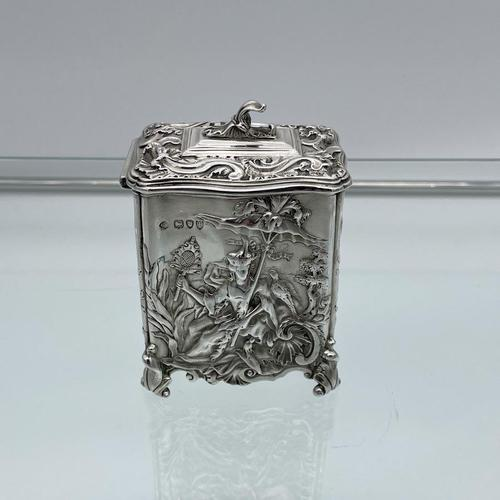 Antique Victorian Sterling Silver Tea Caddy London 1894 George Fox (1 of 12)